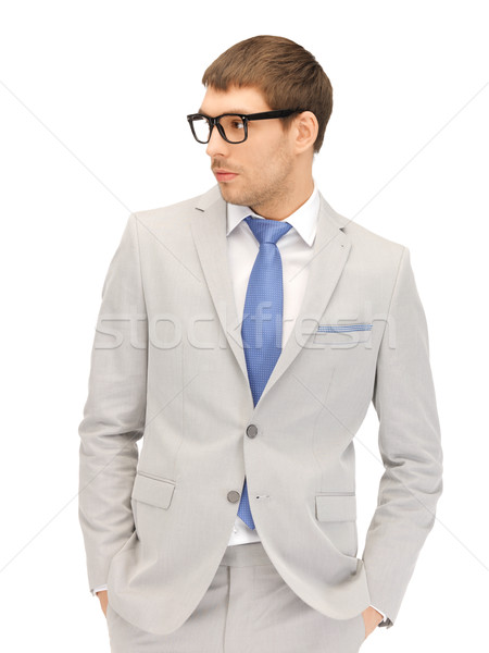 бизнесмен очки портрет фотография человека Сток-фото © dolgachov