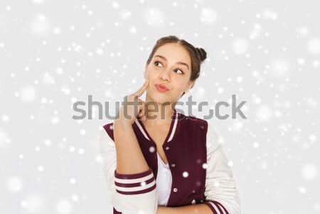 unhappy teenage girl Stock photo © dolgachov