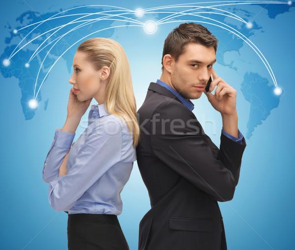 Hombre mujer Foto negocios mundo Foto stock © dolgachov