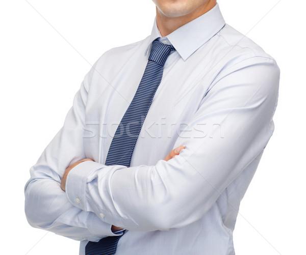 Póló nyakkendő üzletemberek iroda közelkép üzlet Stock fotó © dolgachov