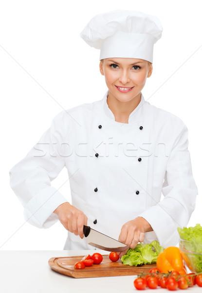 Сток-фото: улыбаясь · женщины · повар · приготовления · продовольствие