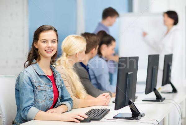 улыбаясь Одноклассники учитель образование школы Сток-фото © dolgachov