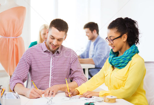 улыбаясь рисунок служба запуска образование моде Сток-фото © dolgachov