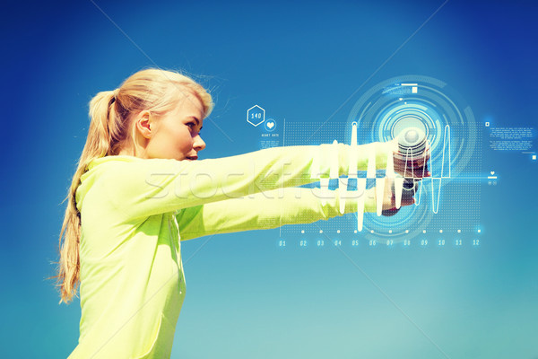 Stockfoto: Vrouw · licht · buitenshuis · sport