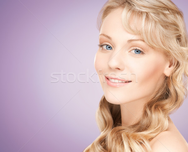 Belo mulher jovem cara longo beleza Foto stock © dolgachov