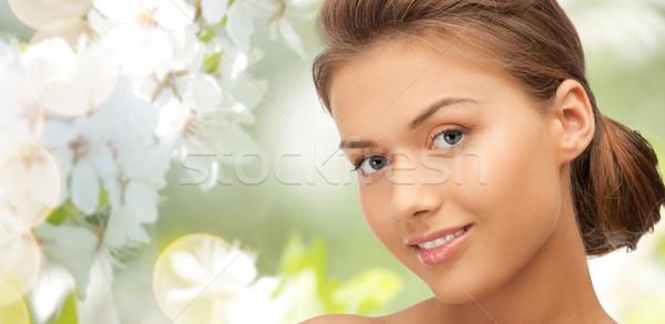 Gyönyörű fiatal nő arc szépség emberek egészség Stock fotó © dolgachov