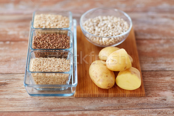 close up of carbohydrate food Stock photo © dolgachov