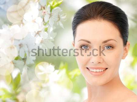Mujer diamantes pendientes personas belleza joyas Foto stock © dolgachov