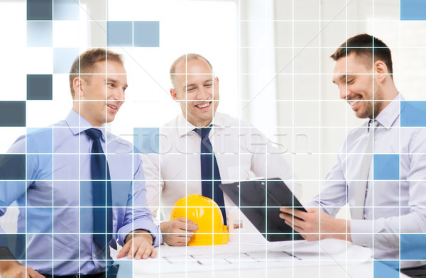 happy team of architects and designers in office Stock photo © dolgachov