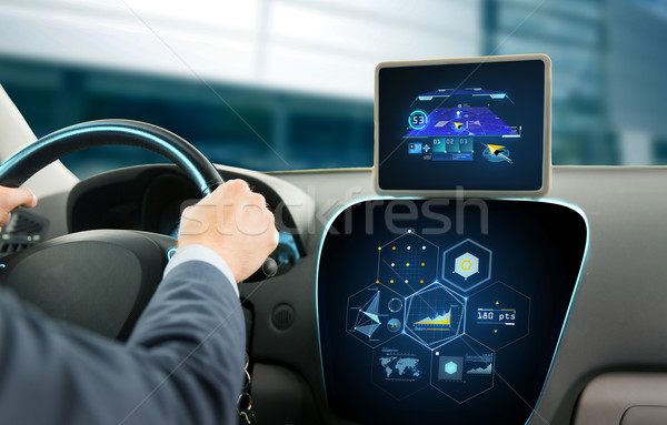 Homme conduite voiture navigation transport Photo stock © dolgachov