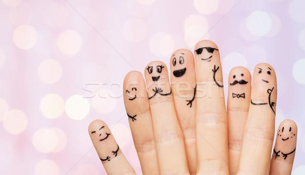 Stockfoto: Handen · vingers · gezichten · gebaar