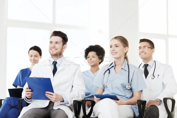 группа счастливым врачи семинара больницу профессия Сток-фото © dolgachov
