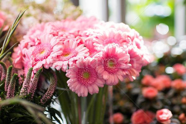 ピンク 花屋 ガーデニング 販売 休日 ストックフォト © dolgachov