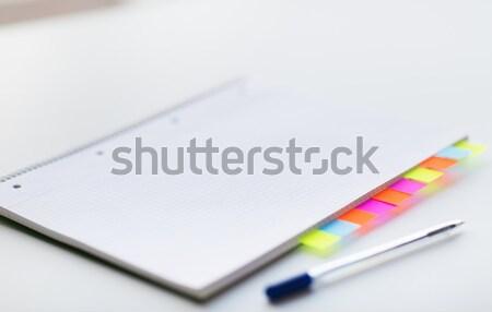 Organisator pen kantoor tabel business Stockfoto © dolgachov