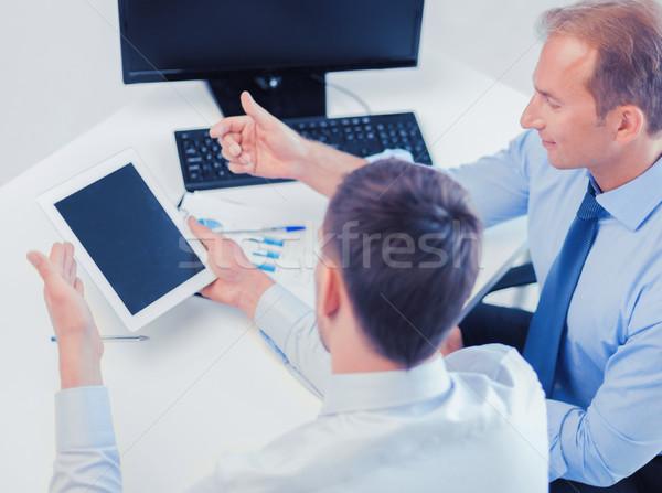 ビジネスマン ノートブック オフィス ストックフォト © dolgachov