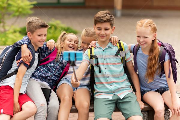 Boldog általános iskola diákok elvesz elsődleges oktatás Stock fotó © dolgachov