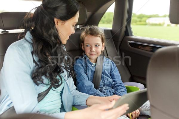 Foto d'archivio: Famiglia · felice · guida · auto · famiglia · trasporto