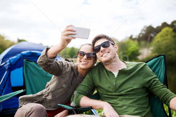 Сток-фото: пару · смартфон · путешествия · походов · технологий