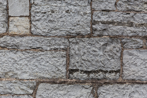 close up of old brick or stone wall background Stock photo © dolgachov