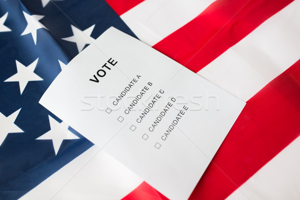 Lege stemmen stemming Amerikaanse vlag verkiezing Stockfoto © dolgachov