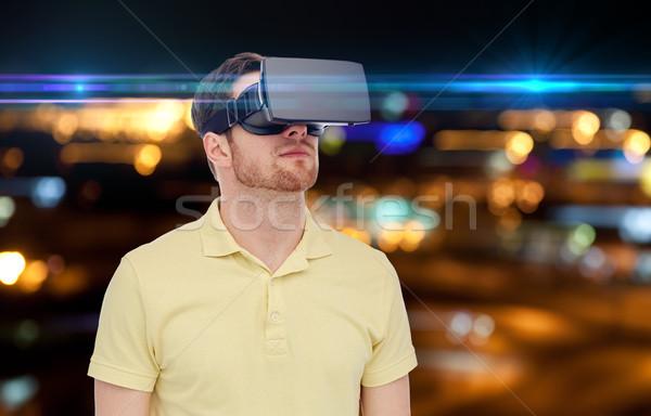 男 バーチャル 現実 ヘッド 3dメガネ 技術 ストックフォト © dolgachov