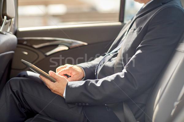 Stockfoto: Senior · zakenman · rijden · auto · vervoer