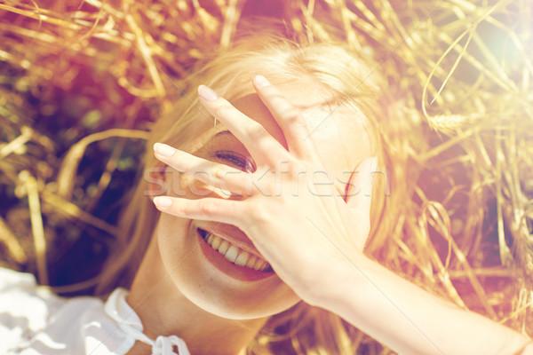 счастливым зерновых области природы лет Сток-фото © dolgachov