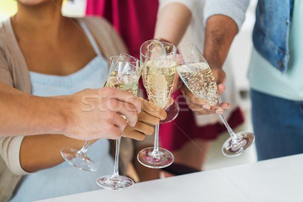 друзей очки шампанского вечеринка празднования люди Сток-фото © dolgachov