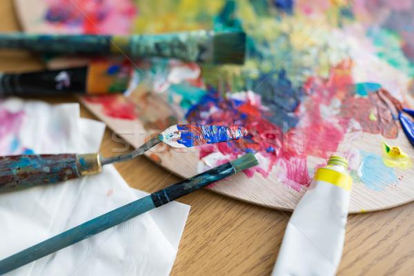 パレット ナイフ 塗料 管 ストックフォト © dolgachov