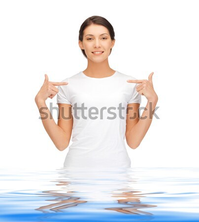 Boldog gondtalan tinilány víz fényes kép Stock fotó © dolgachov