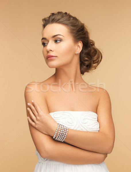 美人 真珠 イヤリング ブレスレット 美 ジュエリー ストックフォト © dolgachov