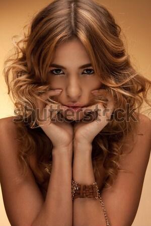 Bella nudo donna salute bellezza sexy Foto d'archivio © dolgachov