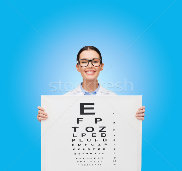 Stok fotoğraf: Kadın · doktor · gözlük · grafik · sağlık · Filmi