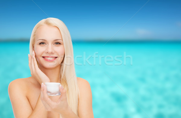 Vrouw room huid cosmetica gezondheid Stockfoto © dolgachov