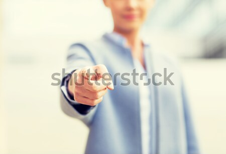 close up of woman giving hand for handshake Stock photo © dolgachov