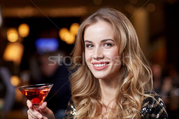 グラマラス 女性 カクテル ナイトクラブ バー 人 ストックフォト © dolgachov