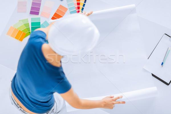 Kadın renk planı mimari iç mimari Stok fotoğraf © dolgachov