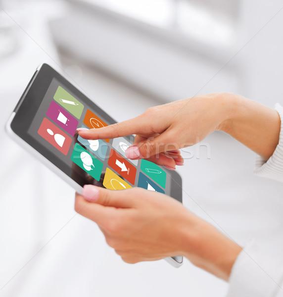 Mãos aplicações pessoas de negócios tecnologia Foto stock © dolgachov