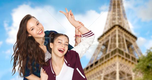 мира Эйфелева башня люди путешествия Сток-фото © dolgachov
