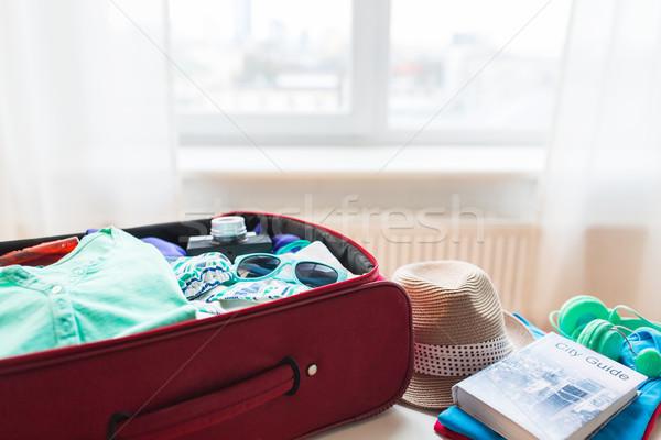 Viajar saco roupa férias de verão turismo Foto stock © dolgachov