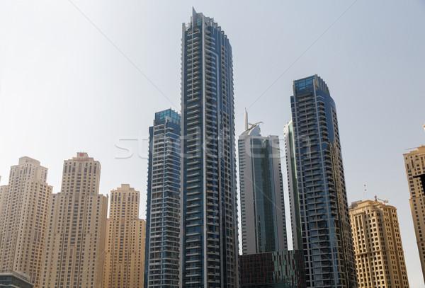 Dubai ciudad zona comercial rascacielos paisaje urbano viaje Foto stock © dolgachov