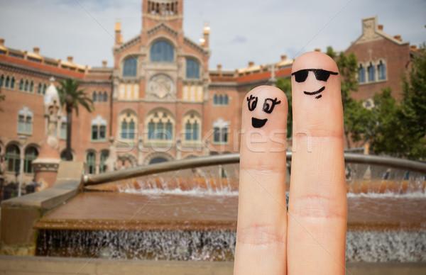 Due dita facce viaggio Foto d'archivio © dolgachov