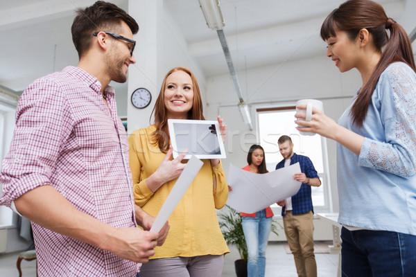 Stockfoto: Creatieve · team · praten · kantoor · business