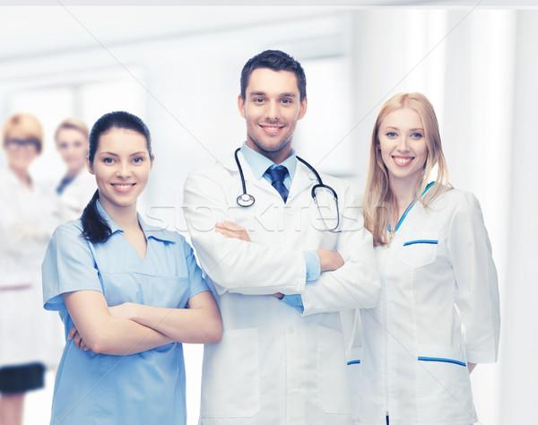 Jeunes équipe groupe médecins photos femme Photo stock © dolgachov