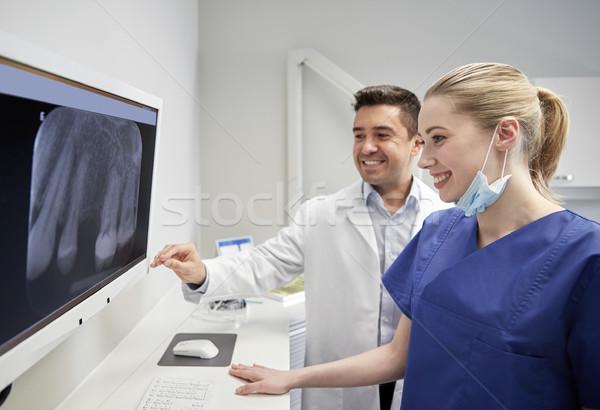 Сток-фото: Стоматологи · Xray · контроля · стоматологических · клинике · люди