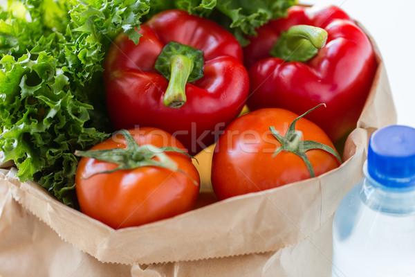 Torby papierowe warzyw wody gotowania diety Zdjęcia stock © dolgachov