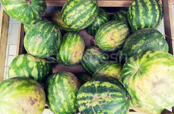 Stock photo: close up of watermelon at street farmers market