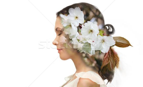 Belle jeune femme beauté personnes eco Photo stock © dolgachov