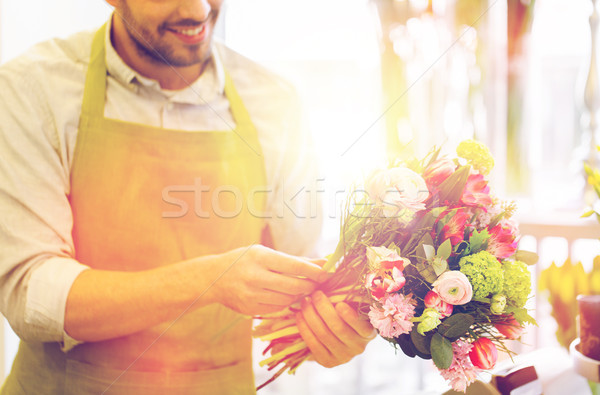 Fleuriste homme personnes Photo stock © dolgachov