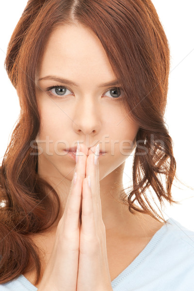 praying businesswoman Stock photo © dolgachov